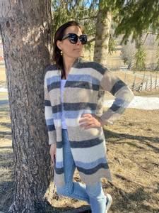 Bilde av Marissa stripete strikkekåpe